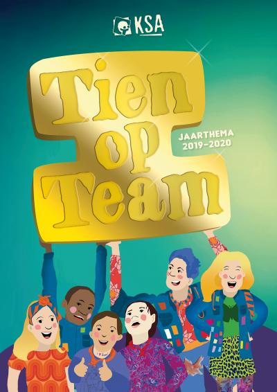 Jaarthema Tien op Team affiche